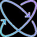Icône avec deux flèches en rond